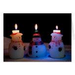 Tarjeta de los muñecos de nieve de las Felices Nav