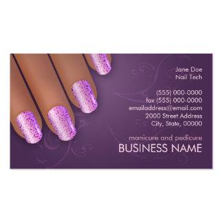 Tarjeta de los negocios y de la cita del manicuro  tarjetas de visita