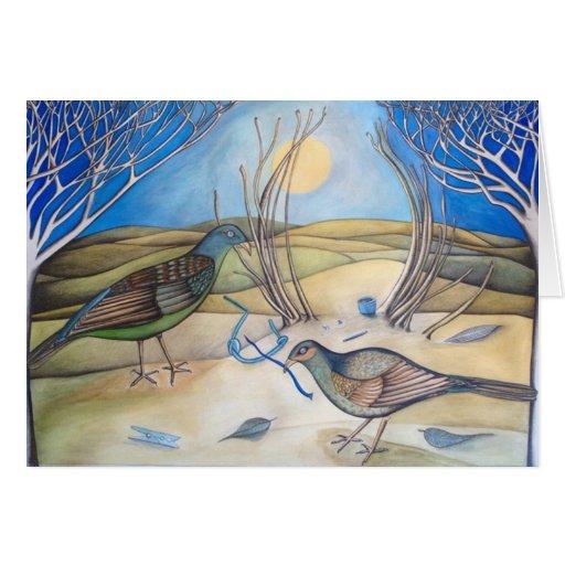 Tarjeta de los pájaros de la glorieta