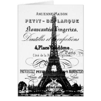 Tarjeta de los _Paris de la torre Eiffel
