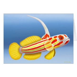 Tarjeta de los pescados del gobio del arrecife de