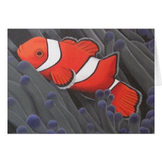 Tarjeta de los pescados del payaso personalizable