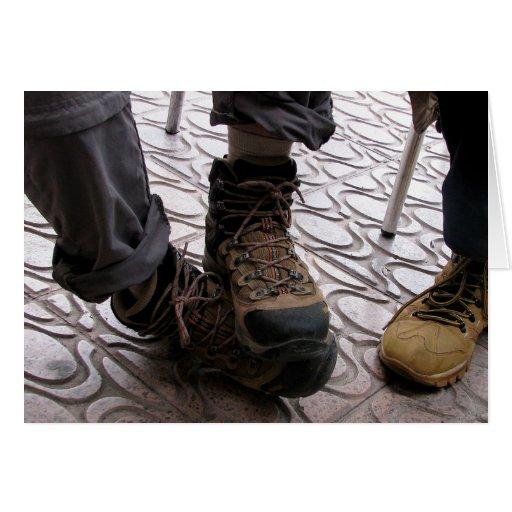 Tarjeta de los pies del peregrino