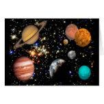 Tarjeta de los planetas de la Sistema Solar