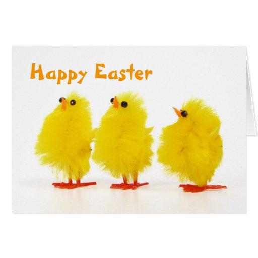 Tarjeta de los polluelos del bebé de Pascua