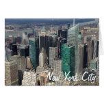 Tarjeta de los rascacielos de New York City