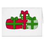 Tarjeta de los regalos de Navidad