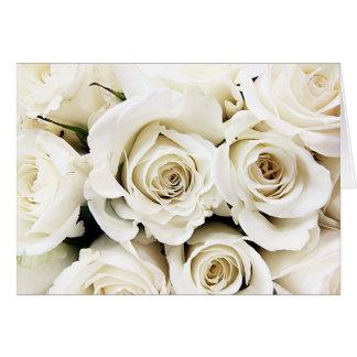 Tarjeta de los rosas blancos