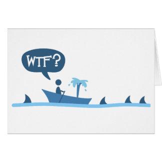 Tarjeta de los tiburones