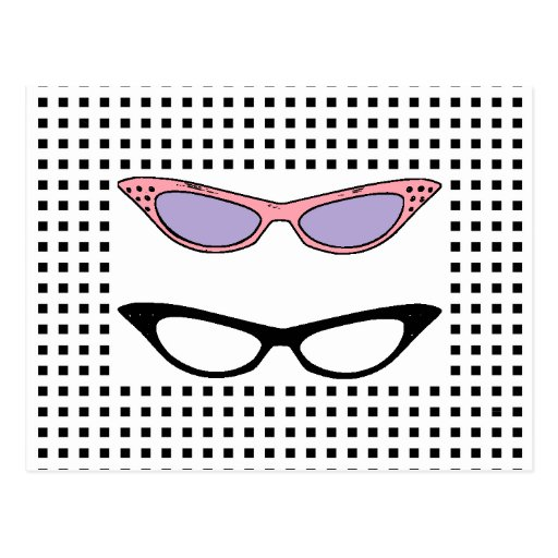 Tarjeta de los vidrios del ojo de 1950 gatos de la postal