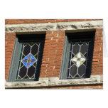 Tarjeta de los vitrales