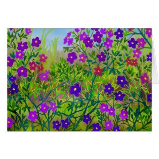Tarjeta de los Wildflowers del país