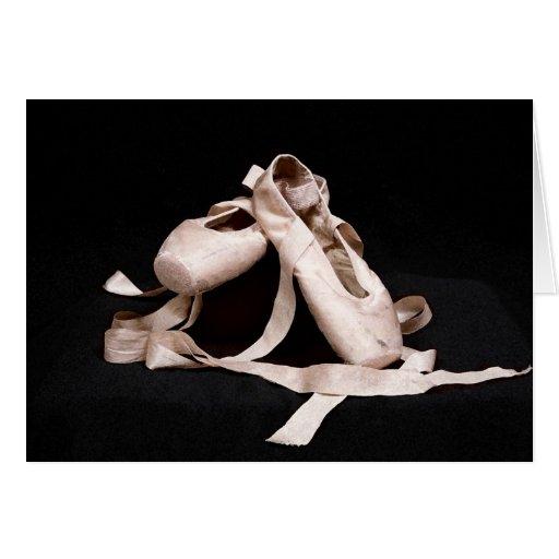 Tarjeta de los zapatos de ballet