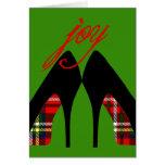 Tarjeta de los zapatos del navidad