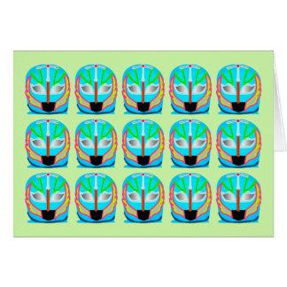 Tarjeta de lucha mexicana de la máscara