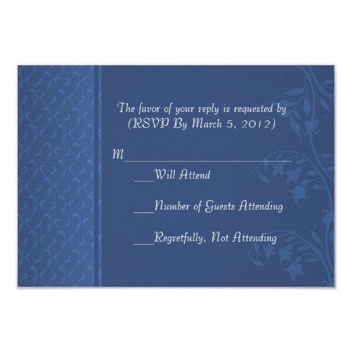 Tarjeta de lujo de RSVP de los remolinos del Invitación 8,9 X 12,7 Cm