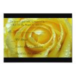 Tarjeta de lujo de RSVP del rosa amarillo del boda Invitación 12,7 X 17,8 Cm