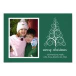 Tarjeta de lujo del árbol de navidad (árbol de invitación 12,7 x 17,8 cm