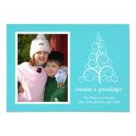 Tarjeta de lujo del árbol de navidad (trullo) invitación 12,7 x 17,8 cm