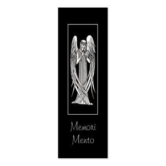 Tarjeta de luto del ángel de Beardsley Tarjetas De Visita