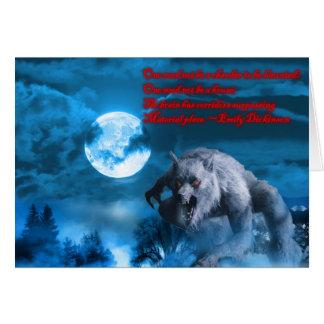 Tarjeta de Lycan Halloween