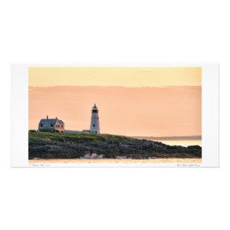 Tarjeta de madera de la foto de la salida del sol tarjeta fotografica