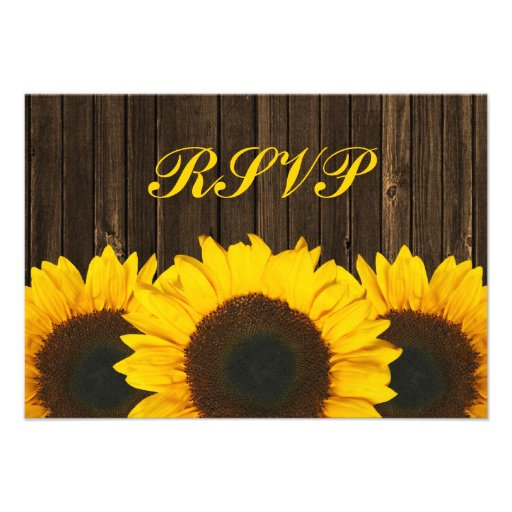 Tarjeta de madera de la respuesta de RSVP del gran Invitacion Personal