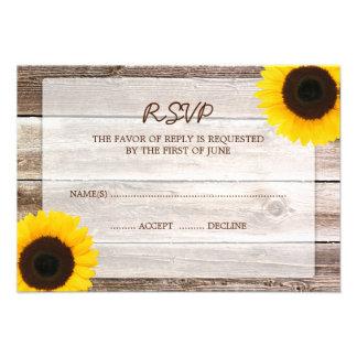Tarjeta de madera de la respuesta de RSVP del gran Invitación Personalizada