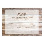Tarjeta de madera de la respuesta de RSVP del Anuncio Personalizado