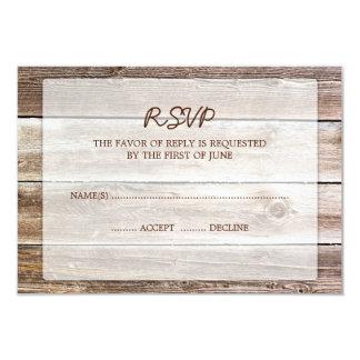 Tarjeta de madera de la respuesta de RSVP del Invitación 8,9 X 12,7 Cm