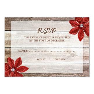 Tarjeta de madera de la respuesta de RSVP del Invitaciones Personalizada