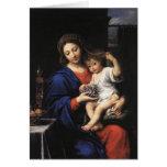 Tarjeta de Madonna y del niño