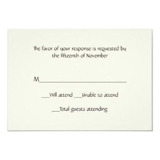 """Tarjeta de marfil de uso múltiple de la respuesta invitación 3.5"""" x 5"""""""