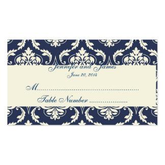 Tarjeta de marfil del lugar de la tabla del boda d tarjetas de visita