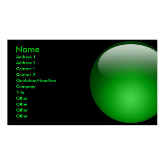 Tarjeta de mármol verde grande tarjetas de visita