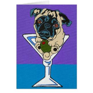 Tarjeta de Martini del barro amasado del cervatill