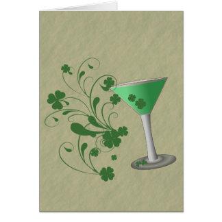 Tarjeta de Martini del día de St Patrick