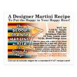 Tarjeta de Martini Margarita de la naranja de Postal