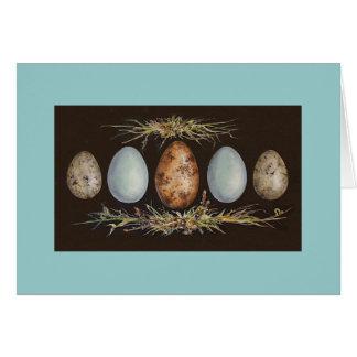 Tarjeta de marzo del huevo