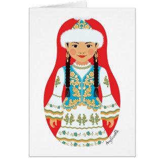 Tarjeta de Matryoshka del Kazakh