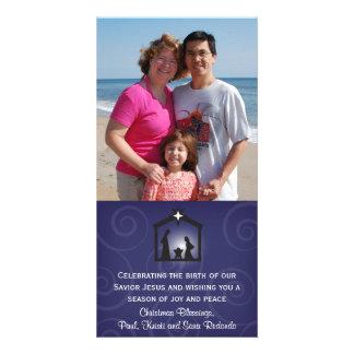 Tarjeta de medianoche de la foto del navidad de la tarjeta fotográfica personalizada