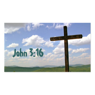 Tarjeta de memoria de la escritura del 3:16 de Jua Plantilla De Tarjeta De Visita