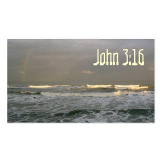 Tarjeta de memoria de la escritura del 3:16 de tarjetas de visita