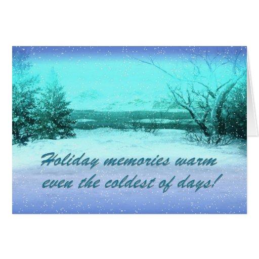 tarjeta de memorias del invierno