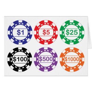 Tarjeta de microprocesadores del casino