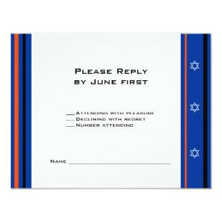 Tarjeta de Mitzvah RSVP de la barra del béisbol de Comunicado