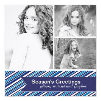 """Tarjeta de moda de la foto del navidad invitación 5.25"""" x 5.25"""""""