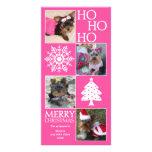 Tarjeta de moda de la foto del navidad plantilla para tarjeta de foto