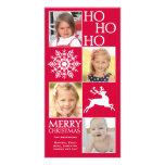 Tarjeta de moda de la foto del navidad tarjetas fotograficas