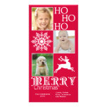 Tarjeta de moda de la foto del navidad tarjeta fotográfica personalizada